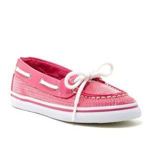 ⬇️SPERRY HOT PINK SEQUIN BISCAYNE BOAT SHOE
